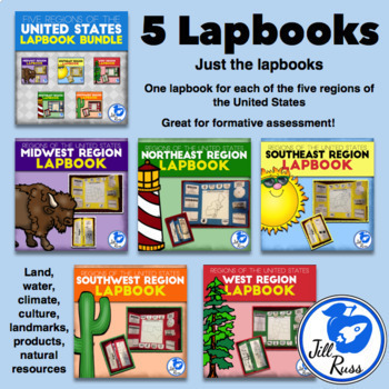 MegaBundle #2: Geography, Regions Lapbooks and More for 3rd grade Social Studies