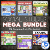 MegaBundle: Regions, Economics, Government & More for 3rd grade Social Studies