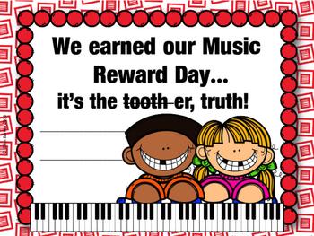 Megafile of Music Class Reward Certificates