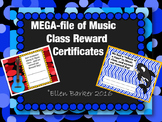 Megafile of Music Class Reward Certificates