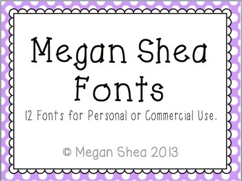 Megan Shea Fonts for Commercial and Personal Use