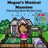 Interactive Music Game (Rhythm) Google Slides/PDF- Megan's Musical Mansion