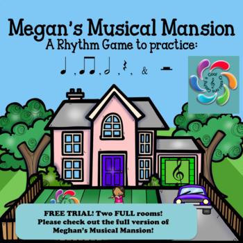 Megan's Musical Mansion-Interactive Music Rhythm Game TRIAL version!