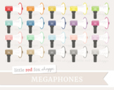 Megaphone Clipart; Speaker, Cheerleading, Cheerleader, Sports