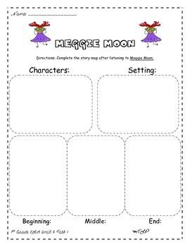 Meggie Moon Story Map 1st Grade ELA Unit 2 Task 2