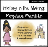 Meghan Markle No Prep Packet | Black Figures | Black Histo