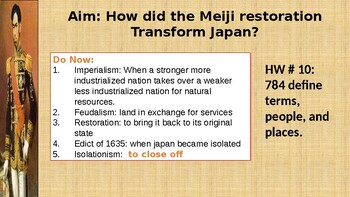 Meiji Restoration Worksheets & Teaching Resources   TpT