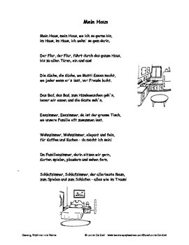 German Musical Chant About House and Rooms Vocabulary - Mein Haus