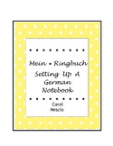 Mein Ringbuch ~ Setting Up A German Notebook