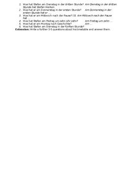 Mein Stundenplan / My class schedule / My timetable
