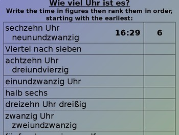 Mein Stundenplan / My timetable