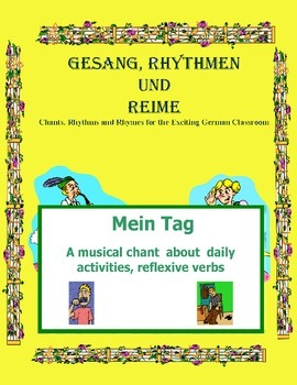 German Musical Chant About Reflexive Personal Verbs - Mein Tag