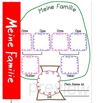 meine familie family tree german by catherine s teachers pay teachers. Black Bedroom Furniture Sets. Home Design Ideas