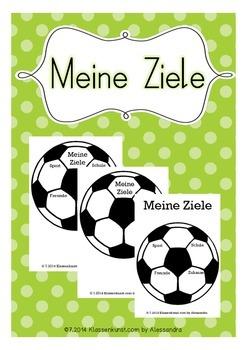 Meine Ziele - Fussball Vorlage