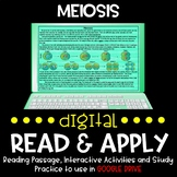 Meiosis DIGITAL Read and Apply (DISTANCE LEARNING)