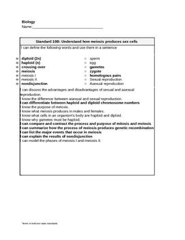 Meiosis Learning Target - Biology