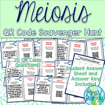 Meiosis QR Code Scavenger Hunt