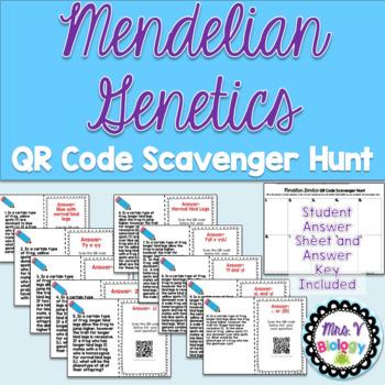 Mendelian Genetics QR Code Scavenger Hunt
