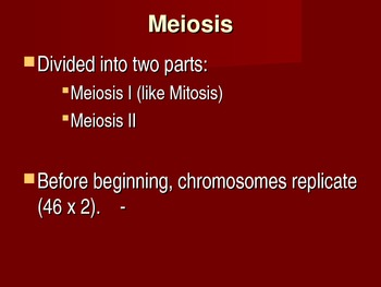 Meiosis - When 2 become 1