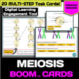 Meiosis (with mitosis review) Digital Task Cards - Boom Cards