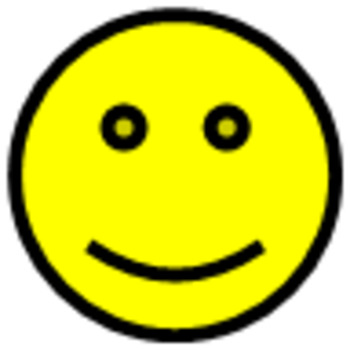 Smiley-Face Winking Bobble-Head—Animated GIF