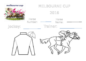 Melbourne Cup Sweep Colouring Page