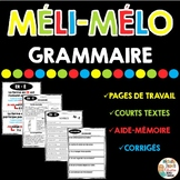 Méli-Mélo de GRAMMAIRE - French grammar worksheets