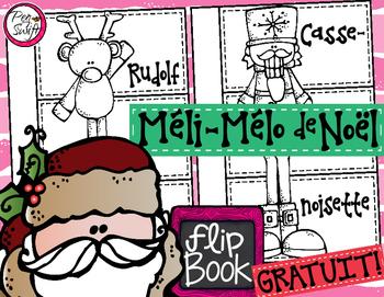 FREE French Christmas Flip Book • Méli-mélo de Noël
