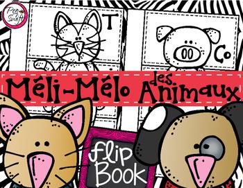 French Flip Book - Méli-mélo des animaux!