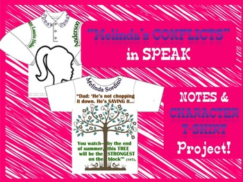 """Melinda's Conflicts"" T-SHIRT Project for Speak (Novel)"