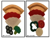 Melissa and Doug Pizza Felt Food Set
