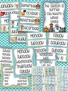 Melissa's Calendar Set (Blue, Green, & Teal)