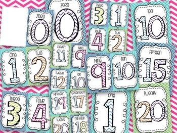 Melissa's Numbers 1-20