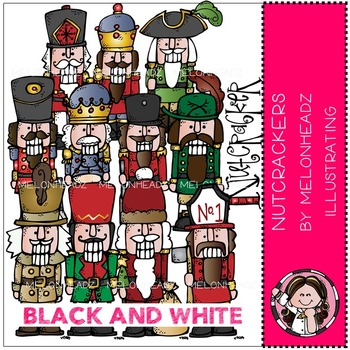 Nutcrackers clip art - BLACK AND WHITE- by Melonheadz
