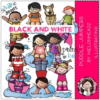 Melissa's Puddle Jumpers by Melonheadz BLACK AND WHITE