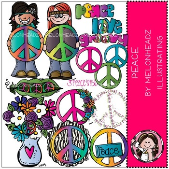 Peace clip art - Hippies - by Melonheadz