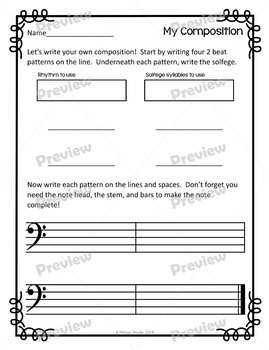 Melodic Composing: Solfege, Pattern Writing, & On the Staff Cards #MusicCrewSun