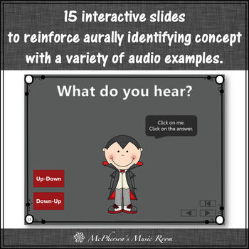 Melodic Contour Interactive Music Game - up/down or down/up (Dracula)