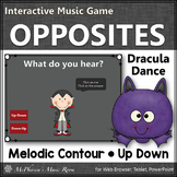 Fall Music Game ~ Melodic Contour Up Down Interactive Music Game {Dracula}