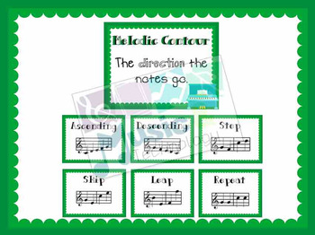 Elements of Music- Melodic Contour Posters