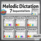 Melodic Dictation Game Music Distance Learning   Boom Cards BUNDLE - Key of C