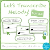 Melodic Dictation Bundle (Let's Transcribe Melody!)