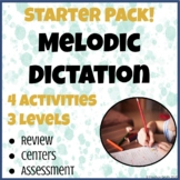 Melodic Dictation Starter Pack!   4 Activities   3 Levels