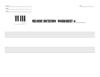 Melodic Dictation Worksheet
