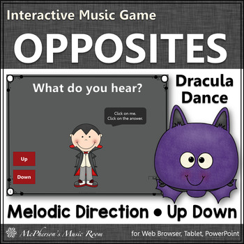 Melodic Direction Interactive Music Game - up or down (Dracula)