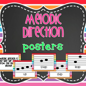 Melodic Direction Posters