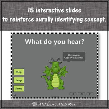 Melodic Direction: Step/Leap/Same ~ Interactive Music Game + Assessment {dragon}