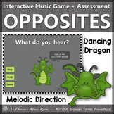 Melodic Direction: Step Leap Same ~ Interactive Music Game + Assessment {dragon}