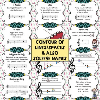 Melodic Contour: Step, Skip, Leap, & Repeat - BUNDLE!