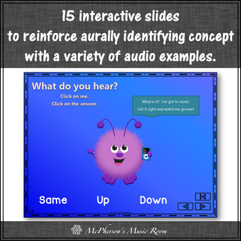 Melodic Direction Up Down Same Interactive Music Game {Fuzzy Monsters}